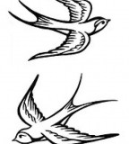 Swallow Bird Tattoo Style