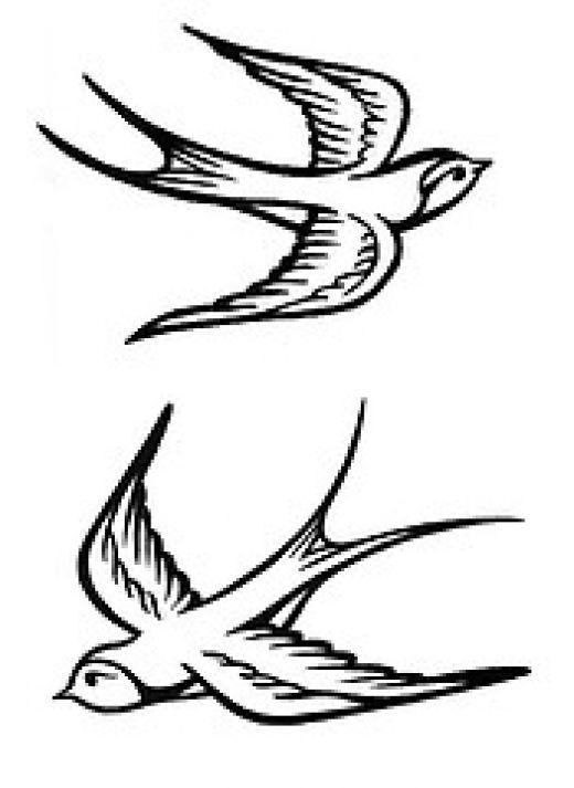 Swallow Bird Tattoo Style