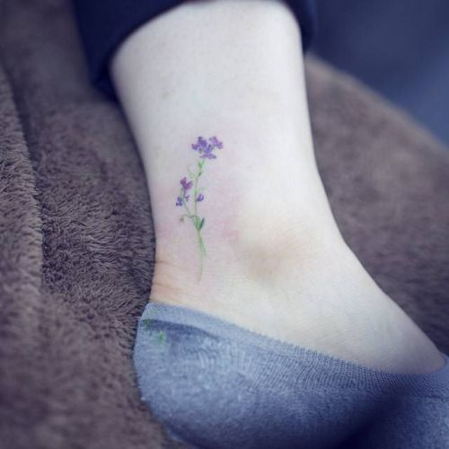sweet pea flower tattoo