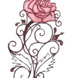 Rose Swirl Tattoo Sketch