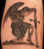 Stylish Angel and Sword Tattoos For Men