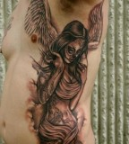 Awesome Angel and Sword Tattoos For Men (NSFW)