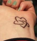 Infinity Love Tattoo on Hand