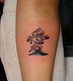Love Style Chinese Symbol Tattoo Design on Arm