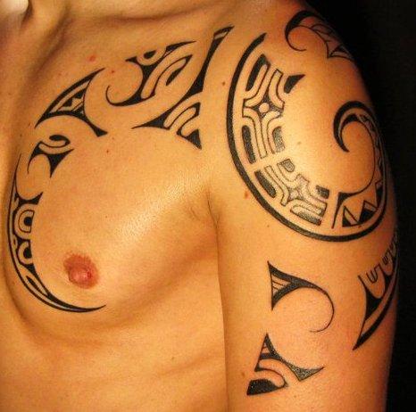 Tribal Tattoo On Chest for Men