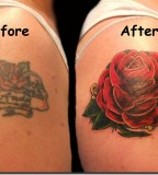 Red Rose Cover Up Arm Tattoo Designs