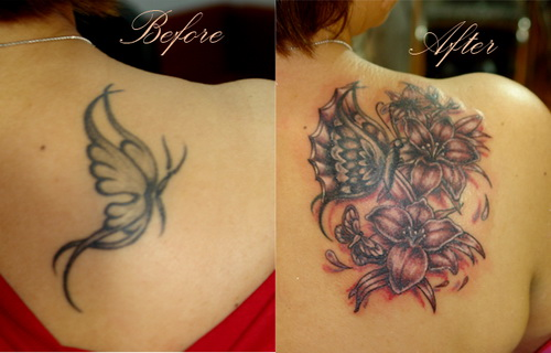 Upper Back Cover Up Tattoo Ideas For Woman