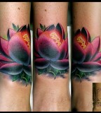 Lotus Flower Cover Up Tattoos