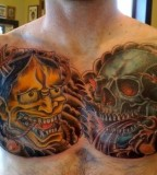 Coverup Chest Piece Tattoo Picture