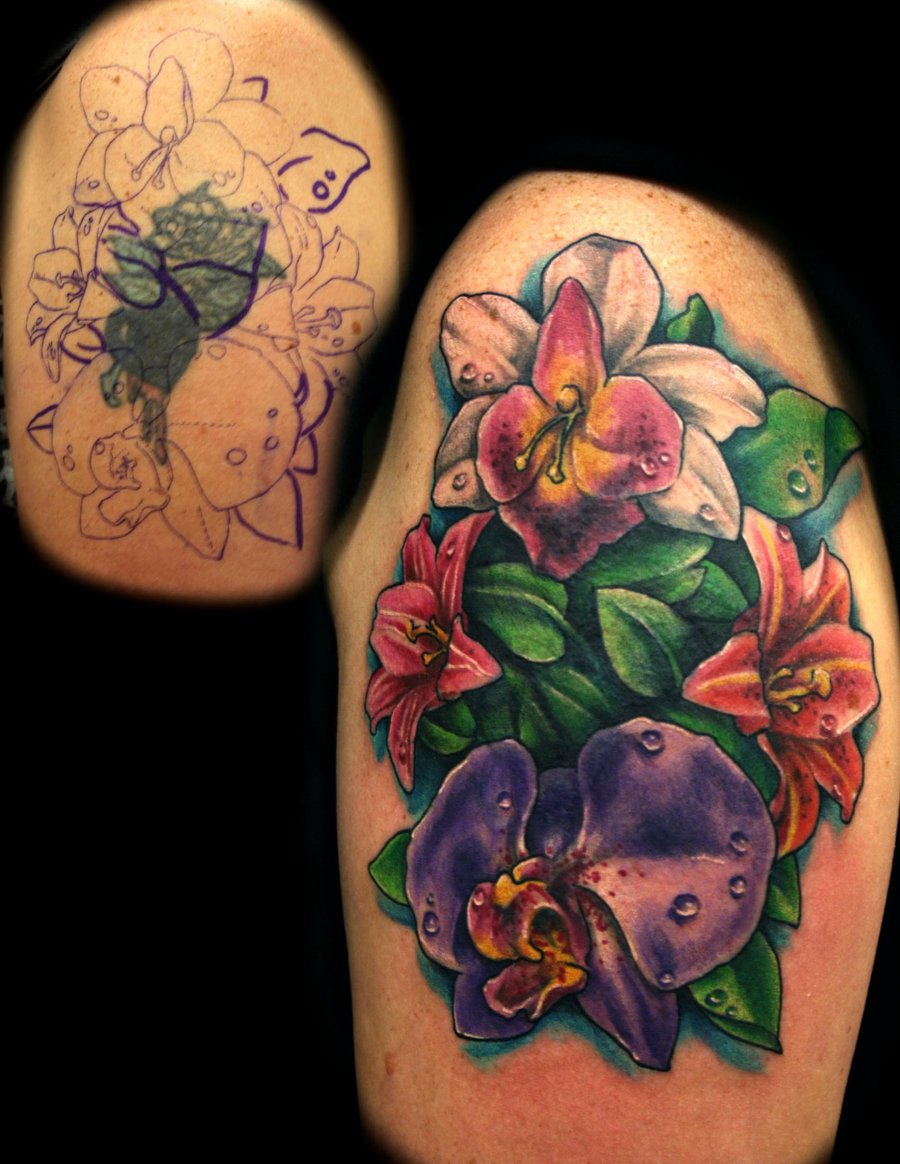 Colorful Flower Tattoo Cover Up Tattoomagz Tattoo Designs Ink Works Body Arts Gallery