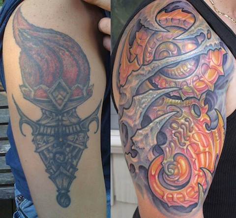 Needles And Sins Tattoo Cover Up