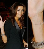Eva Longoria Celebrity Tattoo Cover Up