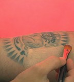 Cover Up A Tattoo Using Makeup