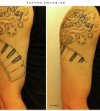 Cover Make Up Tattoo Before and After
