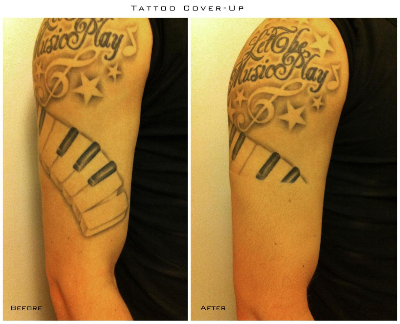 Cover Make Up Tattoo Before and After - | TattooMagz › Tattoo ...
