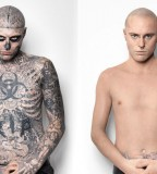 Zombie Boy Rick Genest Covers Up His Tattoos