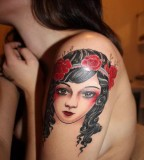 Cute Kids Female Shaped Tattoo for Girls