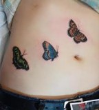 Three Cute Butterfly Shaped Tattoo Design for Girls