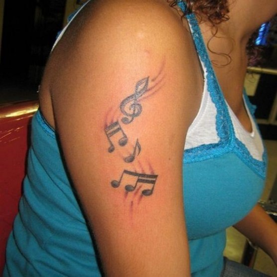 Charts Shaped Tattoo Design for Girls
