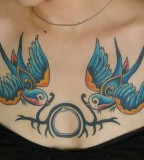 The Beauty Of Swallow Bird Tattoo Design for Girls