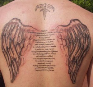 Fallen Angel Wing Tattoo Designs For Men