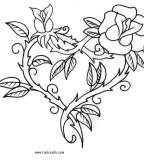 Tattoo Designs Of Flowers Heart Shapes