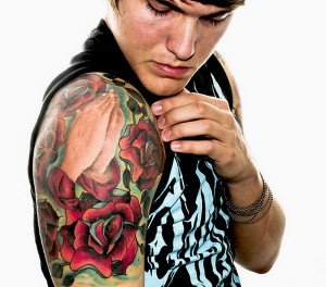 Rose Arm Tattoos Designs For Men