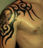 Manly Tribal Arm Tattoos Designs For Men