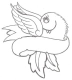 Animal Tattoo Designs Bird And Banner Tattoo: Dove Ribbon