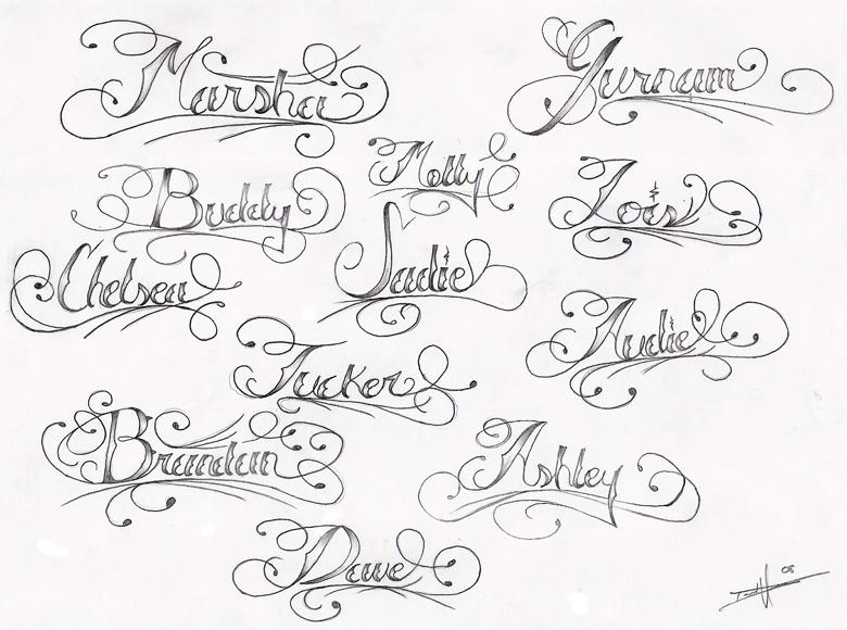 Sample Swirly Name Tattoo Designs - | TattooMagz › Tattoo Designs ...