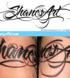 Amazing Graffiti Tattoo Letter Design