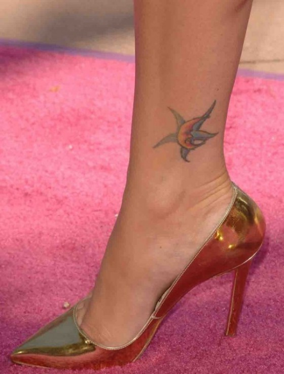 Sexy Megan Fox Foot and Ankle Tattoo Design for Women