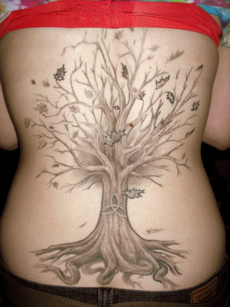 Funtastic Tree Tattoo Designs for Girls or Women