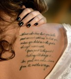 Love Quote Tattoo Design for Women