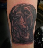 Dog Tattoo Design for Men