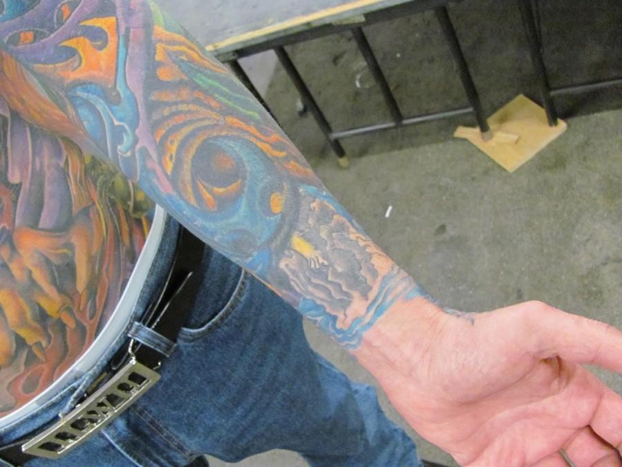 Painful Tattoo on Hand At The Tattoo Body Art Expo Asylum