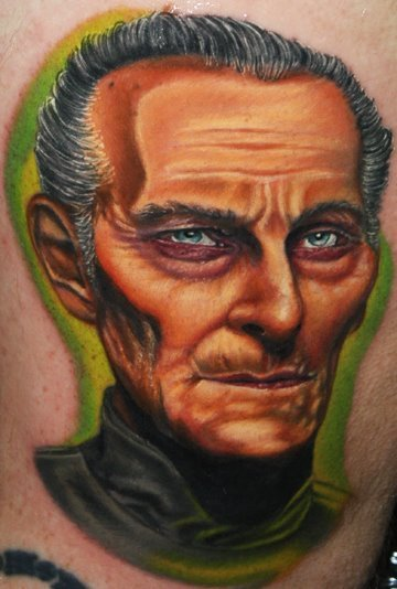 Awesome Facial Tattoo Design