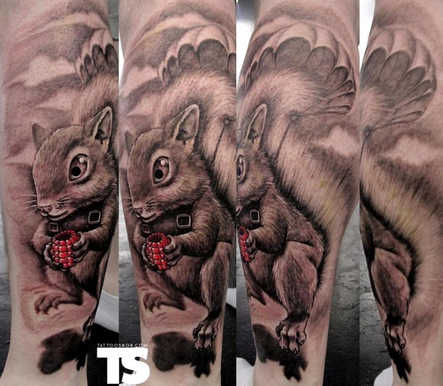 Squirrel Tattoo Design