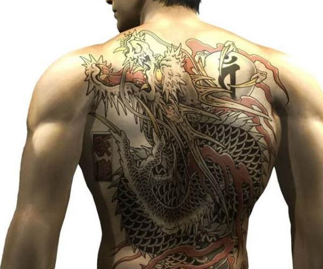Yakuza Kazuma Japanese Games Tattoo for Men