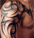 Arm Shoulder Tribal Tattoo Designs For Men