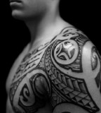 New Tribal Tattoos On Chest Designs For Men