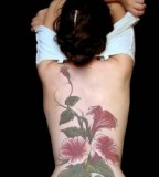 Beautiful Flower Lower-back / Back Tattoo Ideas For Women