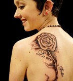 Back Rose Tattoo Designs For Women - Shoulder Tattoo Designs for Women