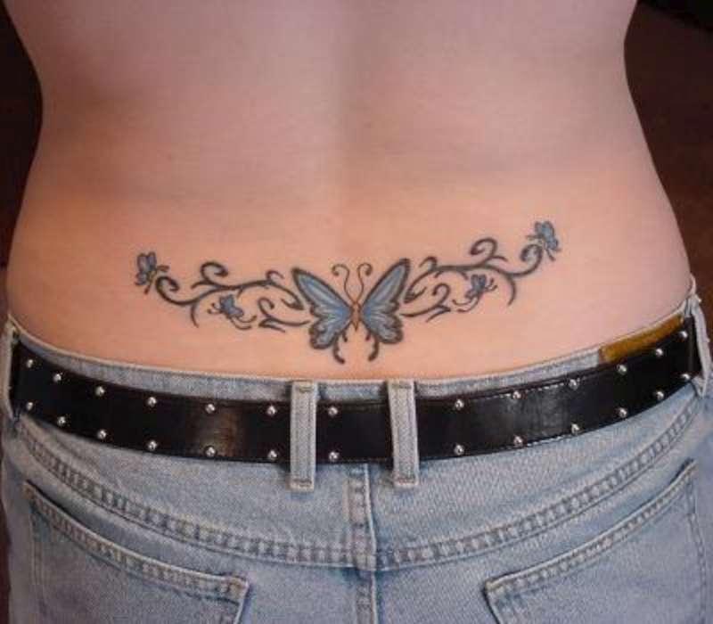 Butterfly Tattoo Ideas For Women – Lower Back Tattoo Design for Women