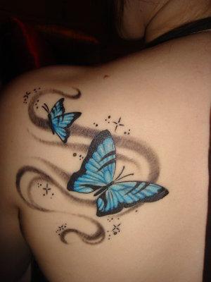 Tattoo Designs For Women Upper-Back Feminine Butterfly Tattoo Designs
