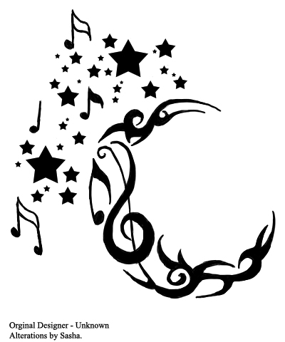 Stars And Music Notes Tattoo Ideas Music Notes Tattoo Ideas