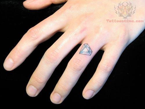 Finger Ring Diamond Tattoo Design Picture