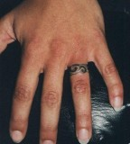 Ring Finger Men Tattoo Design Picture