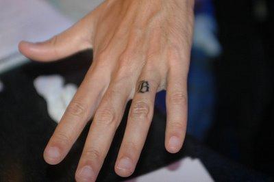 Wedding Band Tattoo Design on Ring Finger