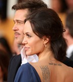 Angelina Jolies Buddhist Inscription Tattoo